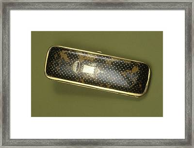 Spectacle Case Framed Print by Science Photo Library