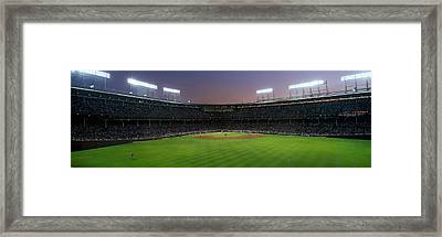 Spectators Watching A Baseball Match Framed Print by Panoramic Images