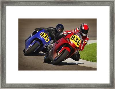 Speed Bike Race Framed Print