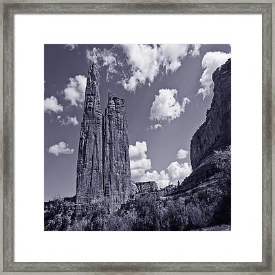 Spider Rock Canyon De Chelly Framed Print by Bob and Nadine Johnston