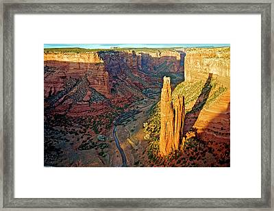 Spider Rock In Canyon De Chelly Framed Print by Richard Wright