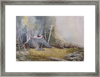 Spike Camp Framed Print by Lynne Parker