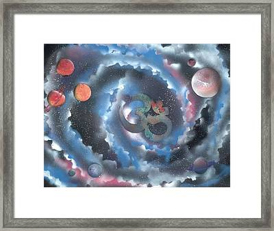 Spiral Galaxy Om Framed Print by Thomas Roteman