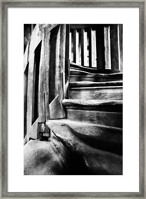 Spiral Staircase Framed Print by John  Bartosik