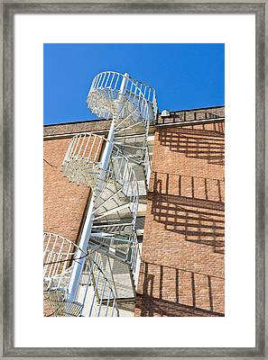 Spiral Staircase Framed Print by Tom Gowanlock
