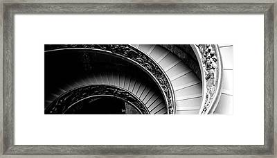 Spiral Staircase, Vatican Museum, Rome Framed Print