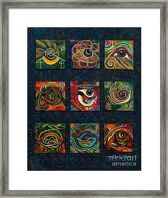 Framed Print featuring the painting Spirit Eye Collection II by Deborha Kerr