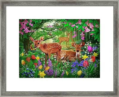 Framed Print featuring the drawing Spirit Of Spring by Ciro Marchetti