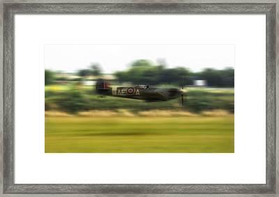 Spitfire Speeding Framed Print by Jason Green