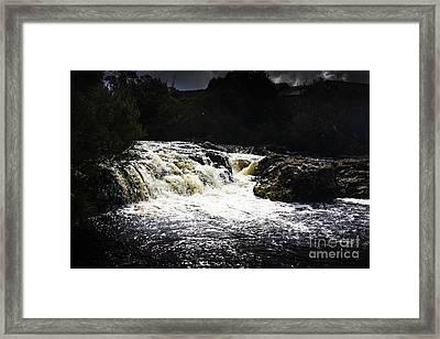 Splashing Australian Water Stream Or Waterfall Framed Print by Jorgo Photography - Wall Art Gallery