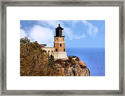 Split Rock Lighthouse Framed Print by Kristin Elmquist