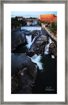 Spokane Falls Framed Print by Dan Quam