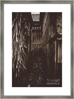 Spooky Early Settlers Rundown Country House Framed Print by Jorgo Photography - Wall Art Gallery