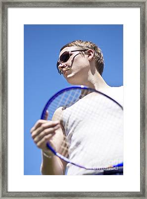 Sporting A Racquet Framed Print by Jorgo Photography - Wall Art Gallery