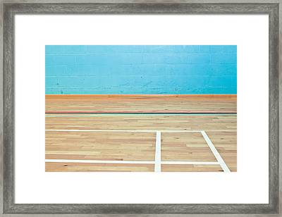 Sports Hall Framed Print by Tom Gowanlock