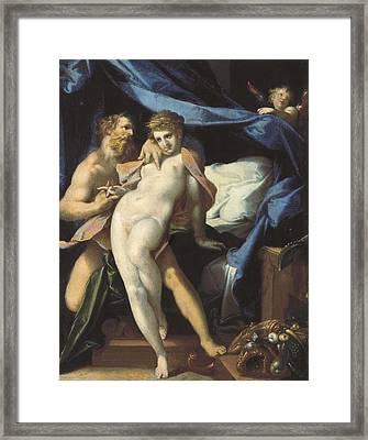 Spranger, Bartholomaeus 1546-1611 Framed Print