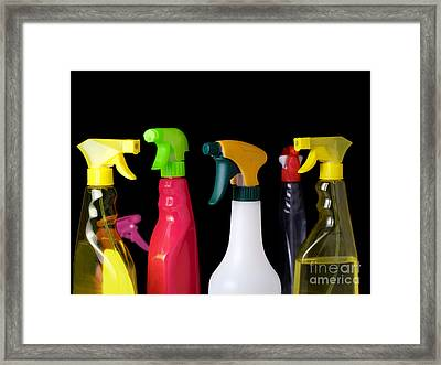 Spray Bottles Framed Print by Sinisa Botas