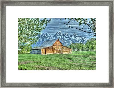 Spring Barn Framed Print