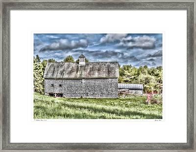 Spring Barn Framed Print by Richard Bean