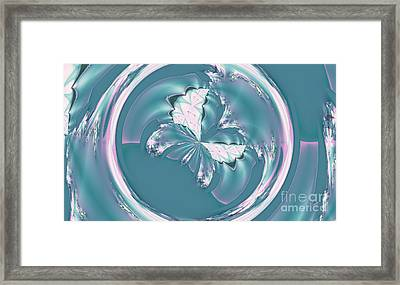 Spring Butterfly Framed Print by Design Windmill