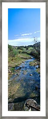 Spring Creek In Upper Ojai, California Framed Print