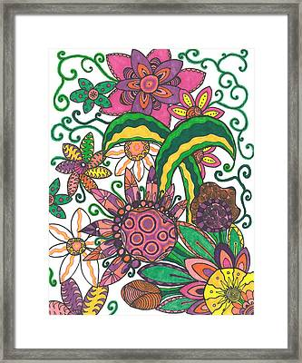 Framed Print featuring the drawing Spring Fever by Jill Lenzmeier