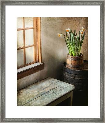 Reaching For The Light Framed Print by Robin-Lee Vieira