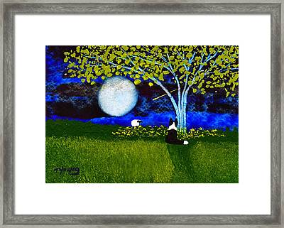 Spring Night Framed Print by Todd Young