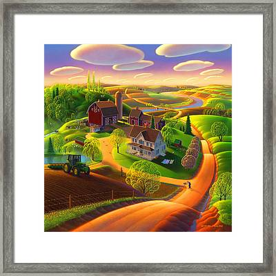 Spring On The Farm Framed Print by Robin Moline