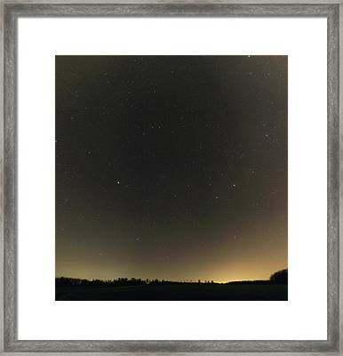 Spring Stars And Light Pollution Framed Print by Eckhard Slawik