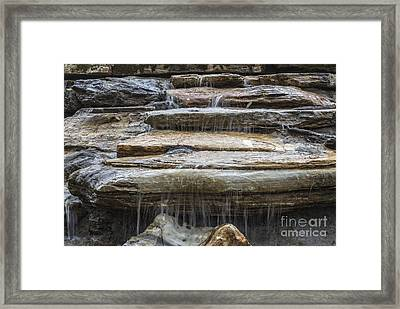 Spring Waterfall Framed Print by Michael Waters