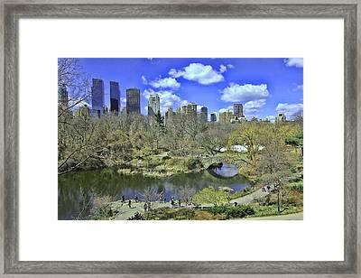 Springtime In Central Park Framed Print