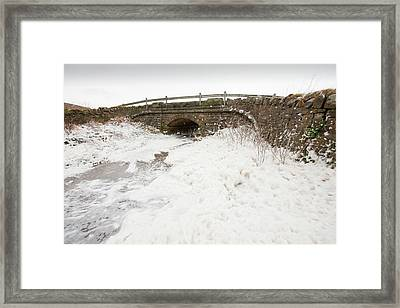 Spume From Storm Waves Framed Print by Ashley Cooper