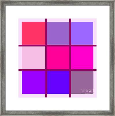 Squares - Pink Framed Print by Celestial Images