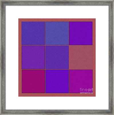 Squares - Purple Framed Print