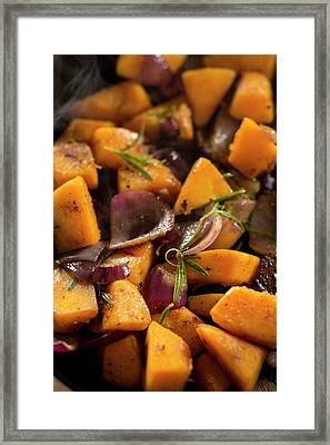 Squash And Onions Framed Print