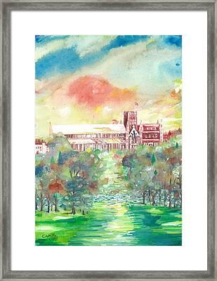 St Albans Abbey - Sunset Framed Print