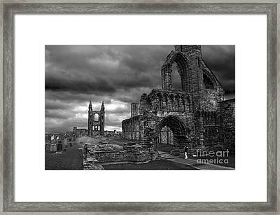 St Andrews Cathedral And Gravestones Framed Print