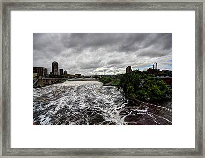 St Anthony Falls Framed Print by Amanda Stadther