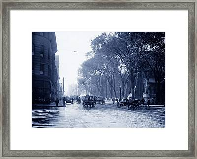 St Catherine Street - Montreal 1910 Framed Print by Mountain Dreams