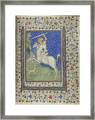 St George And The Dragon Framed Print by British Library