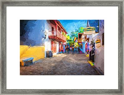 St George Street St Augustine Florida Painted Framed Print by Rich Franco