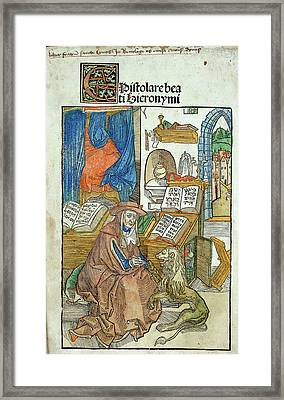St. Jerome Framed Print by British Library