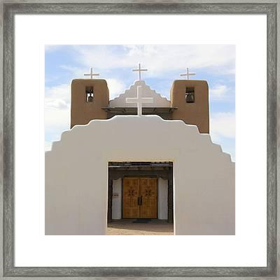 St. Jerome Chapel - Taos Pueblo Framed Print by Mike McGlothlen