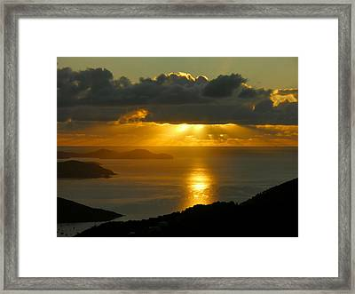 St. John Sunrise Framed Print by Stephen  Vecchiotti