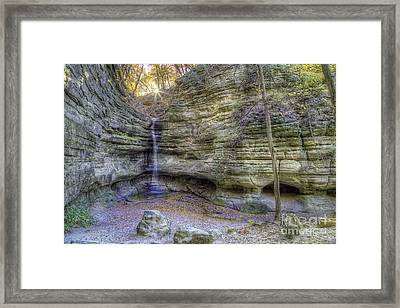 St. Louis Canyon At Starved Rock Framed Print by Twenty Two North Photography