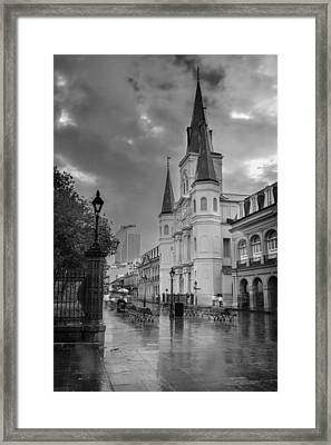 St. Louis Cathedral 14bw Framed Print by Chris Moore