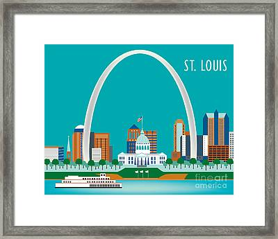 St. Louis Framed Print by Karen Young
