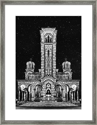 St Marco Church Belgrade Framed Print