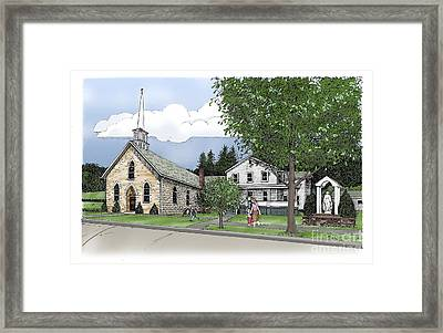 St. Mary Of The Annunciation Parish Framed Print by Randall Llewellyn